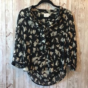 Anthropologie HD in Paris ruffle blouse Small
